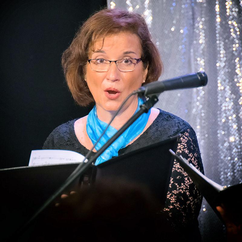 Julia Verba Singing with Main Street Singer