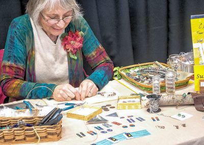 Susan Rocke making jewelry