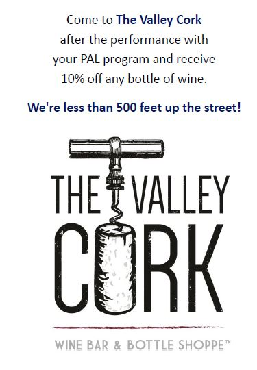 The Valley Cork Advertisement, , supporter of Performing Arts Luray